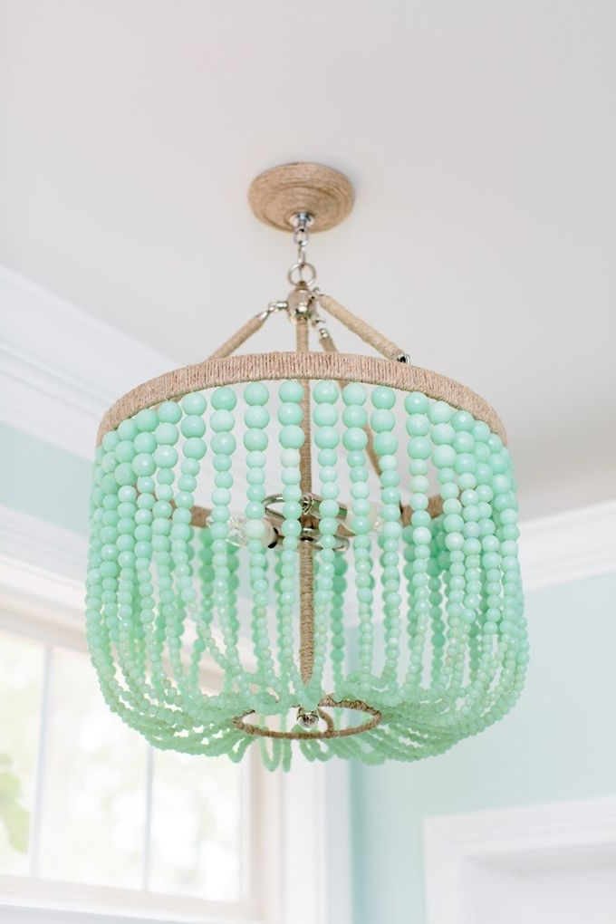 Turquoise Chandelier Lamp Shades Throughout Newest Natalie Clayman Interior Design (Gallery 4 of 10)