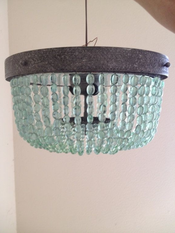 Turquoise Chandelier Lights In Most Recent Aqua (light Turquoise, Green) Vintage Style Beaded Chandelier (View 9 of 10)