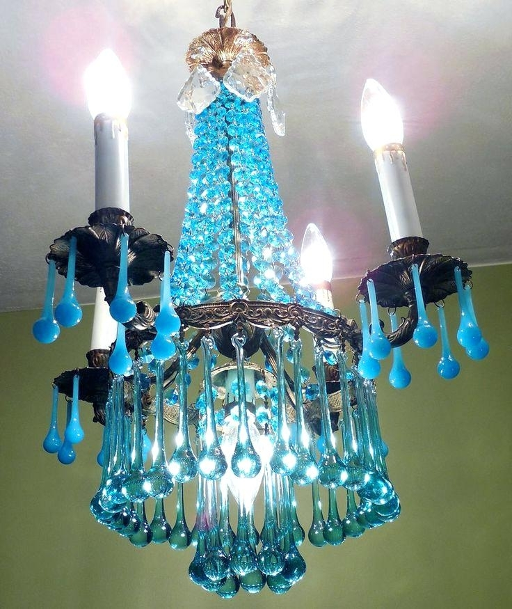 Turquoise Crystal Chandelier Lights With Regard To Most Popular Turquoise Crystal Chandelier Best Lighting Images On Chandeliers (Gallery 9 of 10)