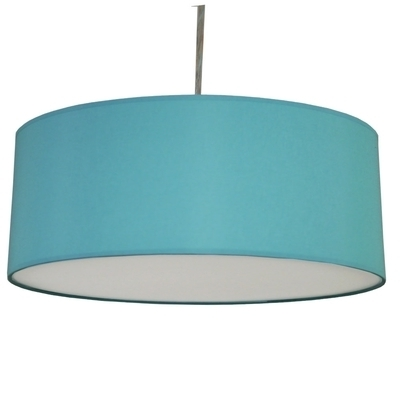 Turquoise Drum Chandeliers Intended For Most Up To Date Drum Pendant Shade Turquoise – Imperial Lighting (Gallery 1 of 10)