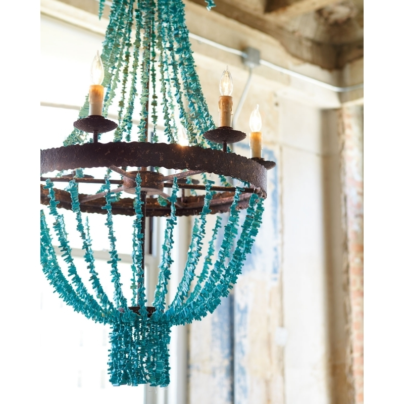 Turquoise Gem Chandelier Lamps Pertaining To 2017 Turquoise Stone Chandelier Lighting – Chandelier Designs (View 3 of 10)