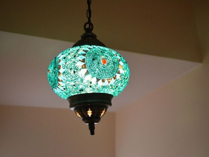 Turquoise Lantern Chandeliers Within Popular 243 Best Moorish Lamps Images On Pinterest (View 5 of 10)