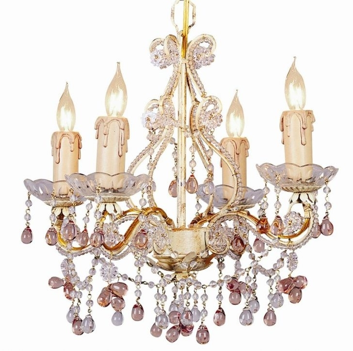 Turquoise Mini Chandeliers Intended For Trendy Fascinating Lights Mini Chandelier W Crystal Multi Colored Rosette (View 5 of 10)