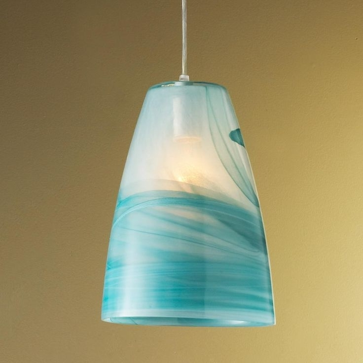 Turquoise Pendant Light (View 10 of 10)