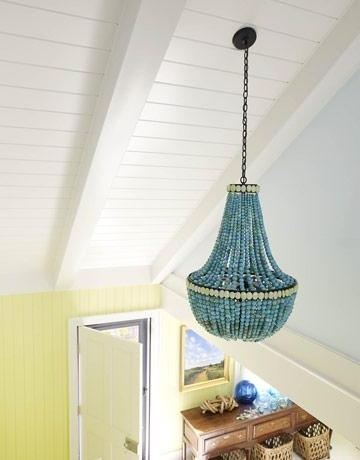 Turquoise Stone Chandelier Lighting Within Most Up To Date Turquoise Stone Beaded Chandelier (Gallery 2 of 10)
