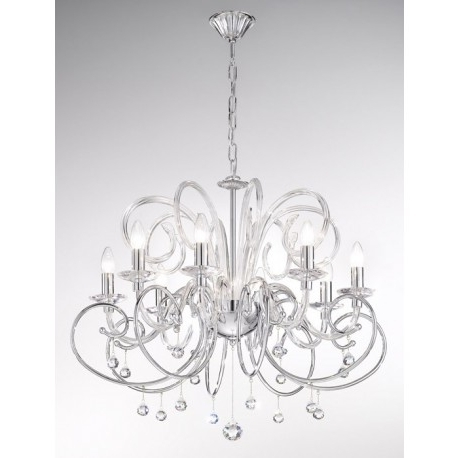 Ultimate Chrome Chandeliers Also Home Remodeling Ideas. Furniture Within Most Popular Chrome Chandeliers (Gallery 8 of 10)