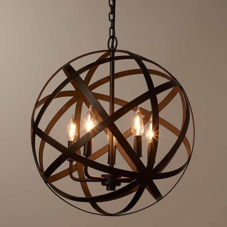 Unique Black Globe Chandelier 17 Best Ideas About Orb With With Fashionable Globe Chandeliers (View 8 of 10)