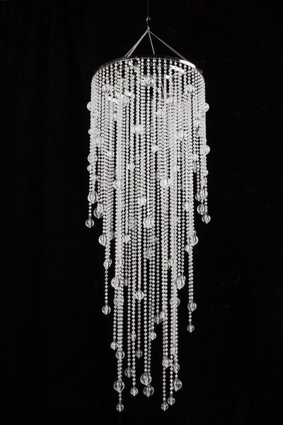 "Vanessa – Crystal Iridescent – 39"" Long In Latest Long Chandelier (View 9 of 10)"
