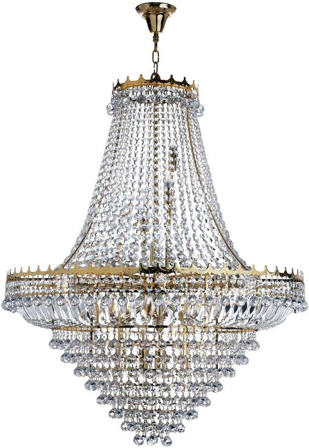 Versailles Extra Large Gold Finish 19 Light Crystal Chandelier 9112 In Widely Used Extra Large Chandeliers (Gallery 7 of 10)