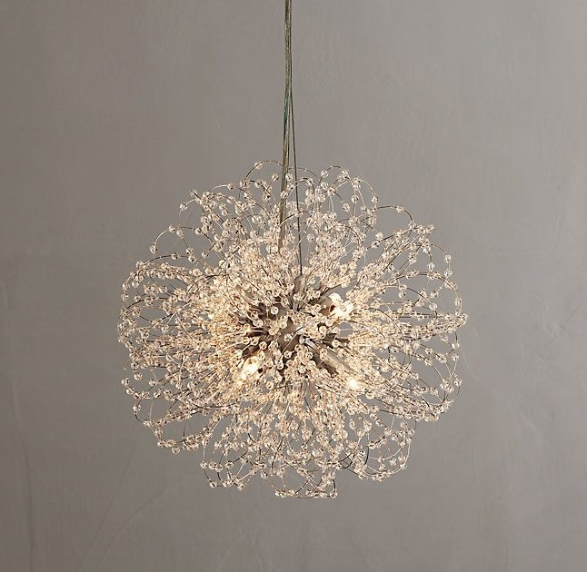 Very Beautiful Round Small Crystal Chandelier (View 5 of 10)