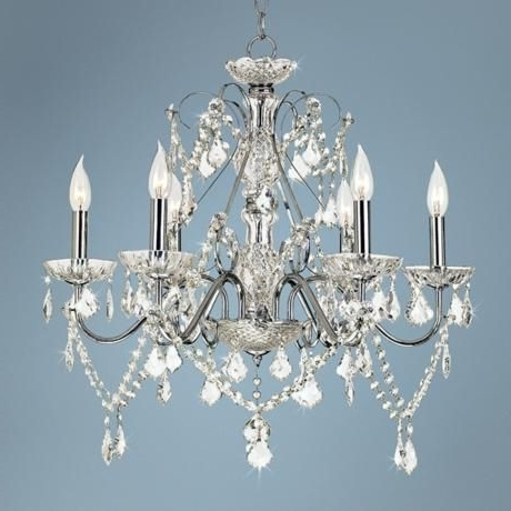 "Vienna Crystal Chandeliers Regarding 2018 Vienna Full Spectrum™ 23 1/2""w Chrome And Crystal Chandelier (View 2 of 10)"