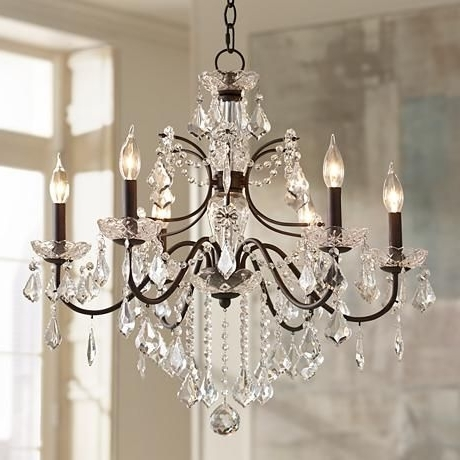 "Vienna Crystal Chandeliers Throughout Widely Used Beverly 26"" Wide Bronze Frame Clear Crystal Chandelier (View 3 of 10)"