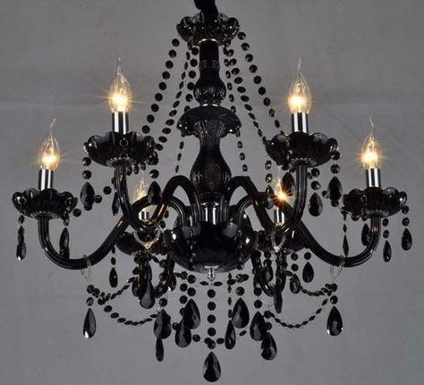 Vintage Black Chandelier Intended For Current Goth Chandelier! – Black Vintage Chandelier (View 6 of 10)
