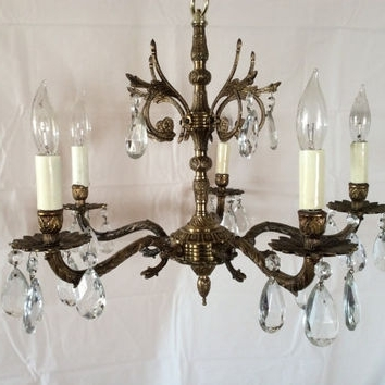 Vintage Brass Chandeliers With Regard To 2017 Best Vintage Brass Chandelier Products On Wanelo (Gallery 6 of 10)