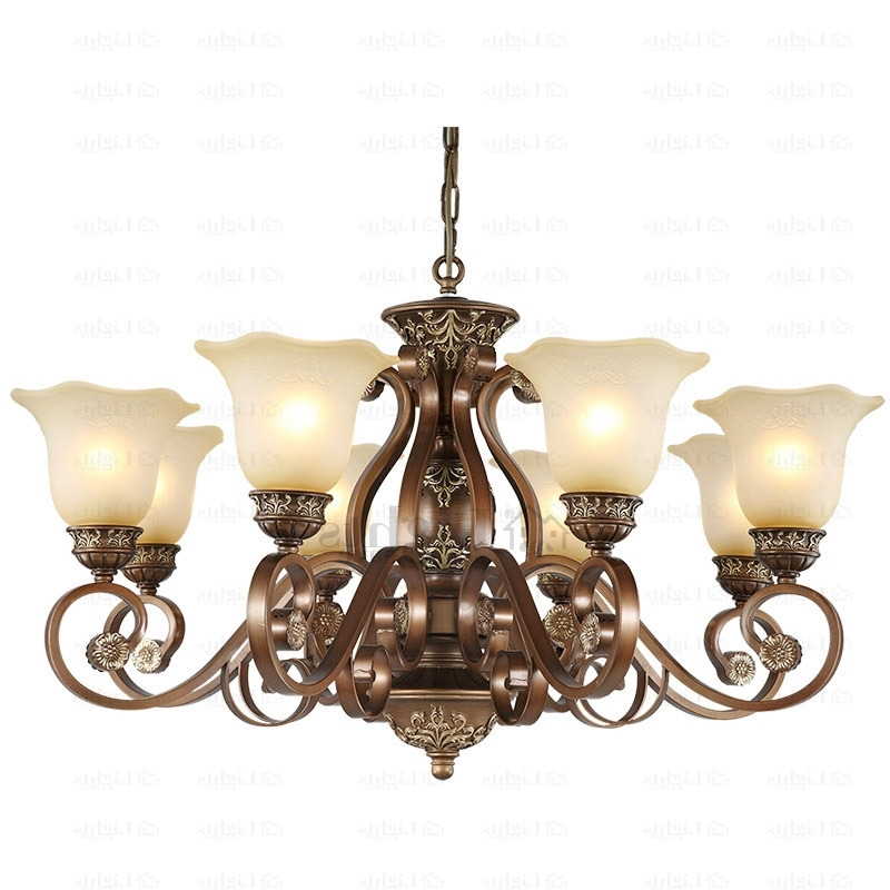Vintage Chandelier With Most Up To Date Rustic 8 Light Resin And Wrought Iron Vintage Chandelier (Gallery 2 of 10)