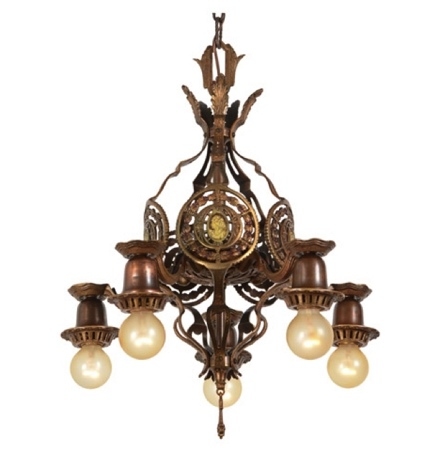 Vintage Industrial Style Intended For Antique Chandeliers (View 6 of 10)