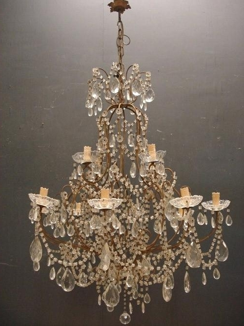 Vintage Italian Chandelier Inside Most Popular Vintage Italian Chandelier Chandelier Picture Vintage Chandelier C (View 7 of 10)