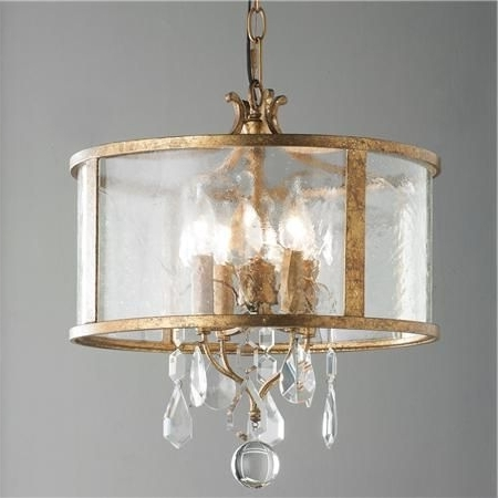 Vintage Modern Crystal Mini Chandelier (Gallery 9 of 10)