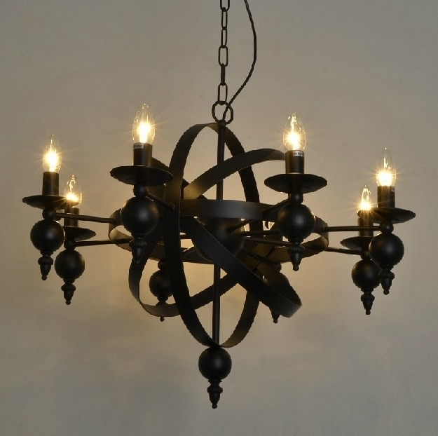 Vintage Wrought Iron Chandelier With Regard To Most Recent Aliexpress Buy Industiral Pendant Lamp Chandelier Rural Vintage (View 9 of 10)