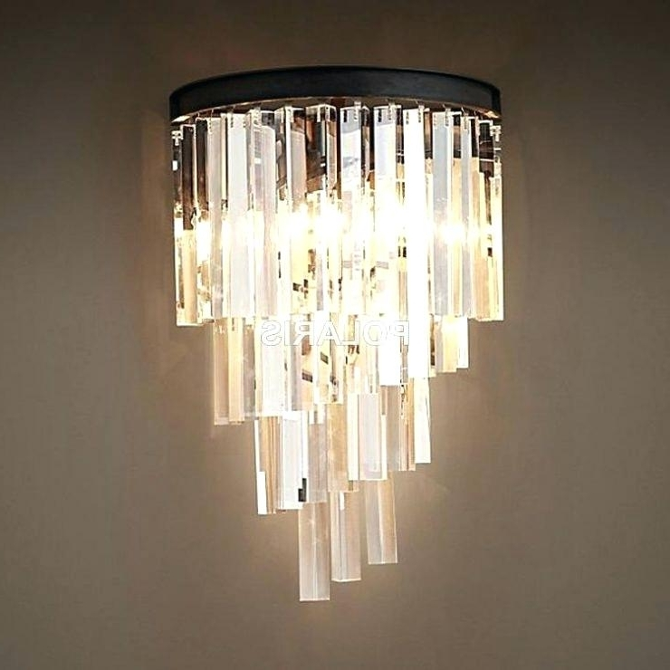 Wall Mounted Chandelier Lighting Pertaining To Best And Newest Wall Mounted Chandelier Lighting Chandeliers Dining Room Linear (View 9 of 10)