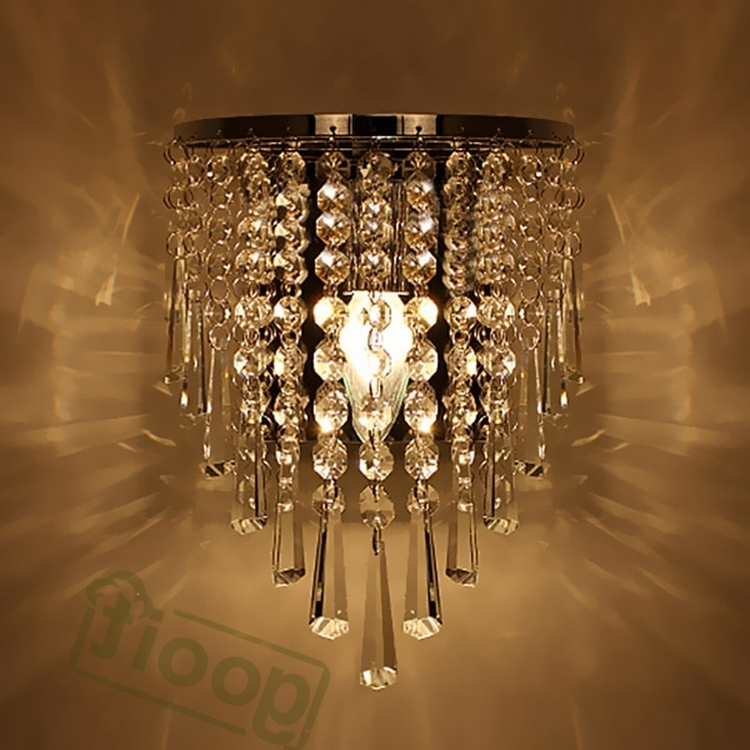 Wall Mounted Chandeliers Throughout 2017 Modern Crystal Chandelier Wall Light Lighting Fixture 220v E14 Led (View 1 of 10)