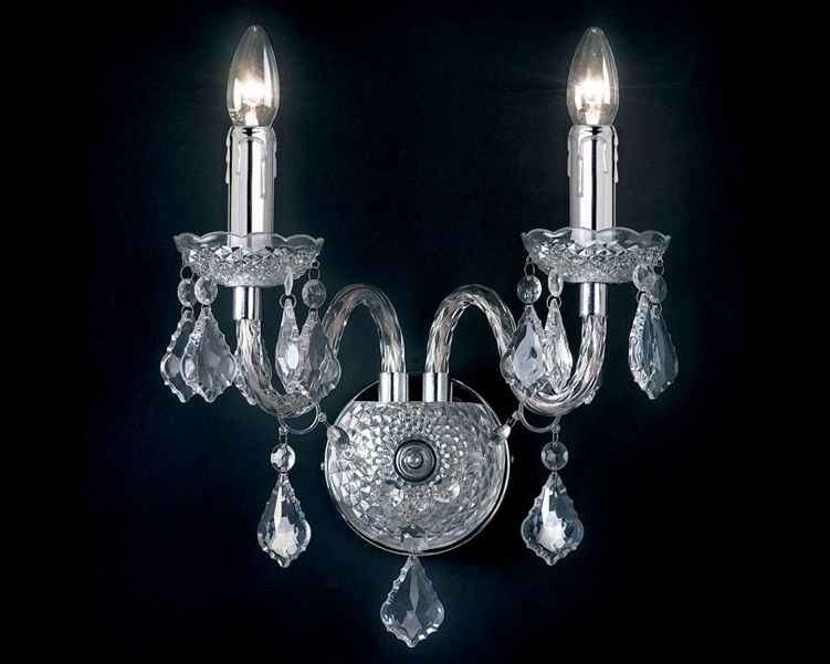 Wall Mounted Chandeliers Within Popular Home Design : Extraordinary Wall Mounted Chandelier 3082Cl Home (View 10 of 10)