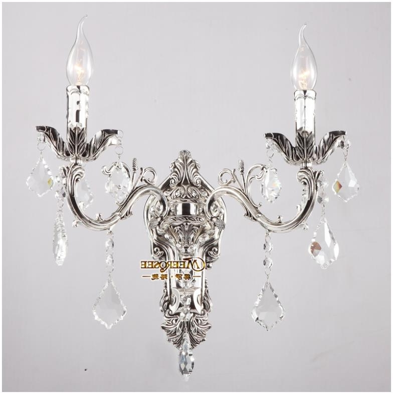 Wall Mounted Mini Chandeliers In Widely Used 2018 Classic Crystal Chandelier Wall Light Gold Crystalline For (View 7 of 10)
