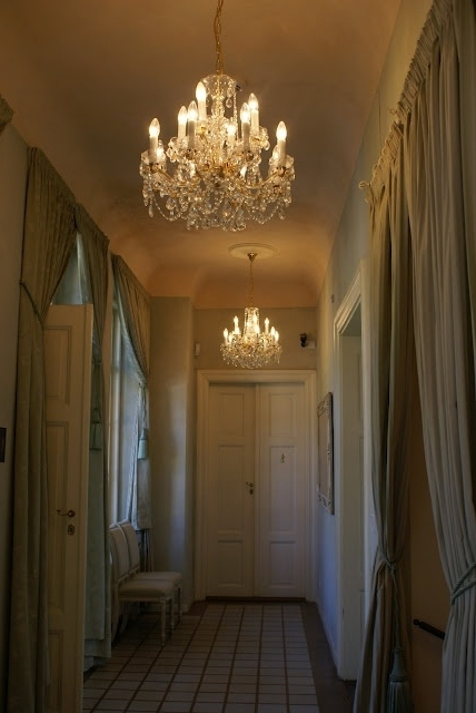 Wall Of Mirrors, Mirrors And Intended For Chandeliers For Hallways (View 10 of 10)