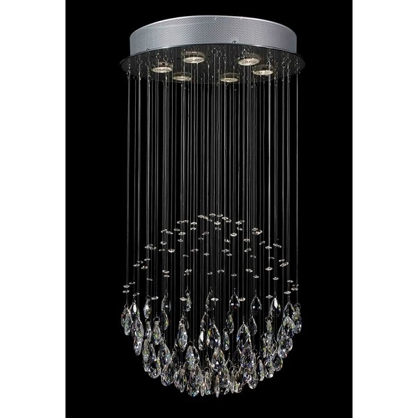 Waterfall Chandeliers With Regard To Favorite Everly Quinn Antoninus 6 Light Chrome Waterfall Chandelier & Reviews (View 7 of 10)