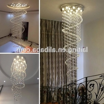 Waterfall Crystal Chandelier Intended For Widely Used Christmas Lights Drop Crystal Chandelier Modern Waterfall Wedding (View 7 of 10)
