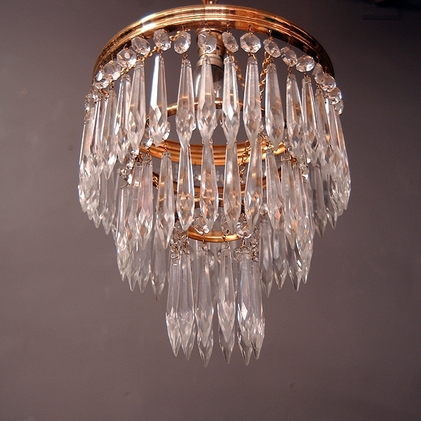 Waterfall Crystal Chandelier Throughout Recent Poppy Greens Home – 3 Tiered Waterfall Crystal Chandelier (View 8 of 10)
