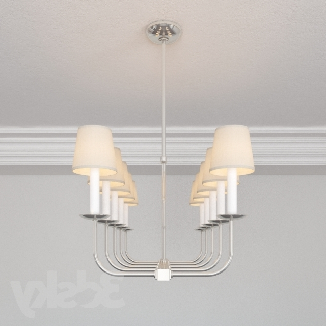 Well Known 3D Models: Ceiling Light – Visual Comfort Sl5863Pn Ef Chapman Linear Within Branched Chandelier (View 10 of 10)