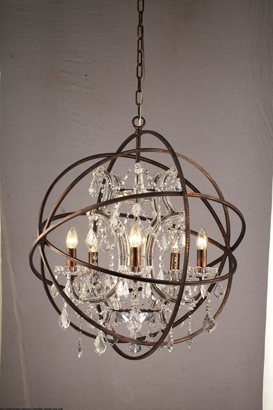 Well Known Alluring Orb Chandelier Gold In Innovative Lighting Crystal Inside Orb Chandeliers (View 4 of 10)