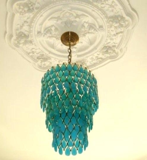 Well Known Aqua Chandelier Turquoise Chandelier Aqua Colored Chandelier Intended For Turquoise Chandelier Crystals (View 10 of 10)