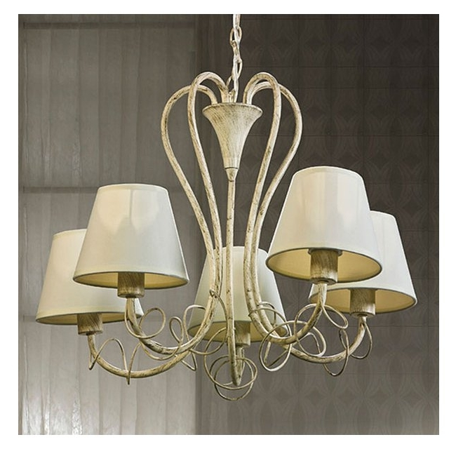 Well Known Azzardo Giulietta 5 Light Cream Chandelier Intended For Cream Chandeliers (View 9 of 10)