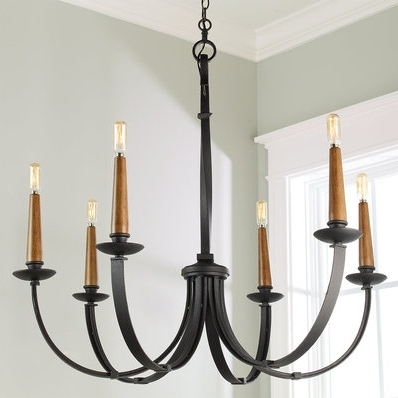 Well Known Black Iron Chandeliers With Regard To Astonishing Black Iron Chandelier On Rustic Wooden Wrought (View 2 of 10)