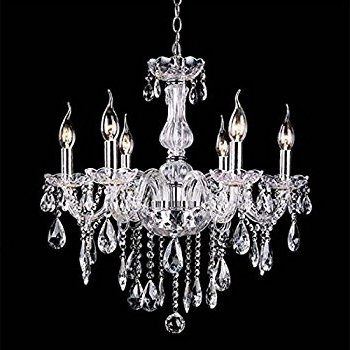Well Known Candle Chandelier For Amazon: Wakrays Crystal Lamp Fixture Pendant Light Ceiling Chain (View 2 of 10)