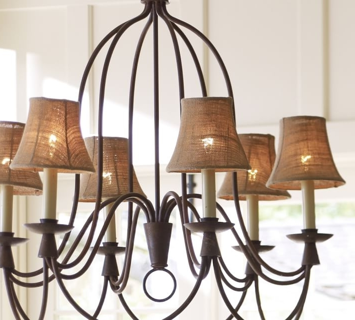 Well Known Chandelier Lampshades Intended For Furniture : Inspiring Chandelier Lampshades Set Candles On The (View 9 of 10)