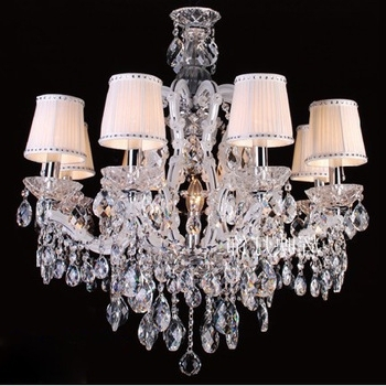 Well Known Chandelier With Lamp Shades Crystals Wheel Spider Fitter – Schwubs Inside Chandelier With Shades And Crystals (View 10 of 10)