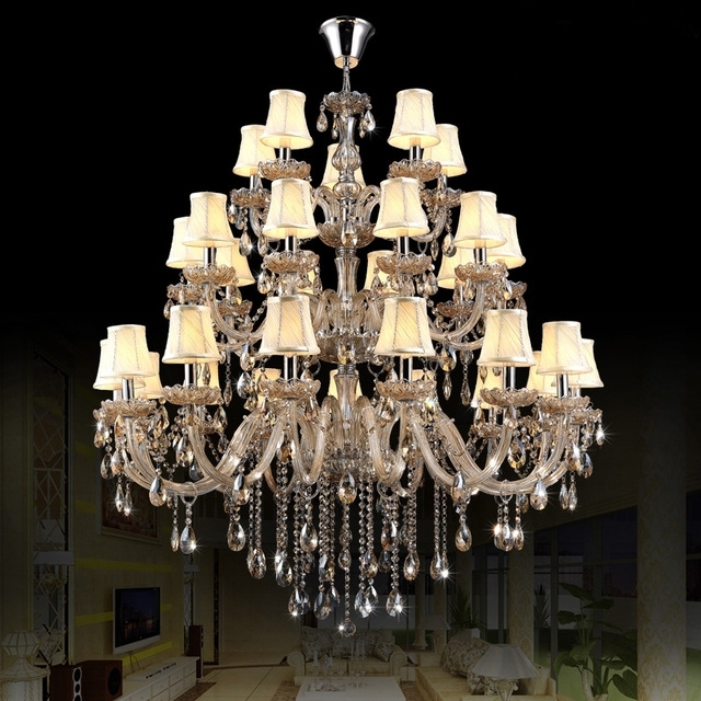 Well Known Chrome Chandelier With Shades Modern Led Chandelier Lights Indoor Inside Chandelier Lights (View 10 of 10)