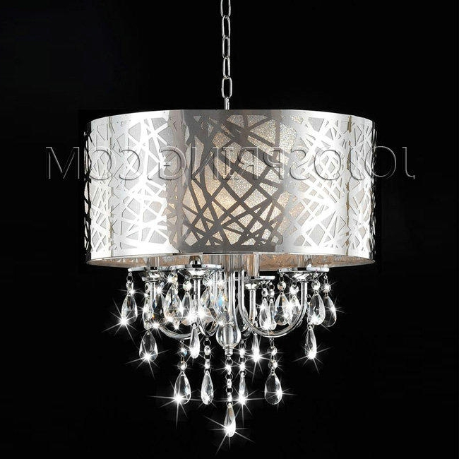 Well Known Chrome Crystal Chandelier Pertaining To Fantastic Crystal Chandelier Light Chrome 5 Light Crystal Chandelier (View 10 of 10)