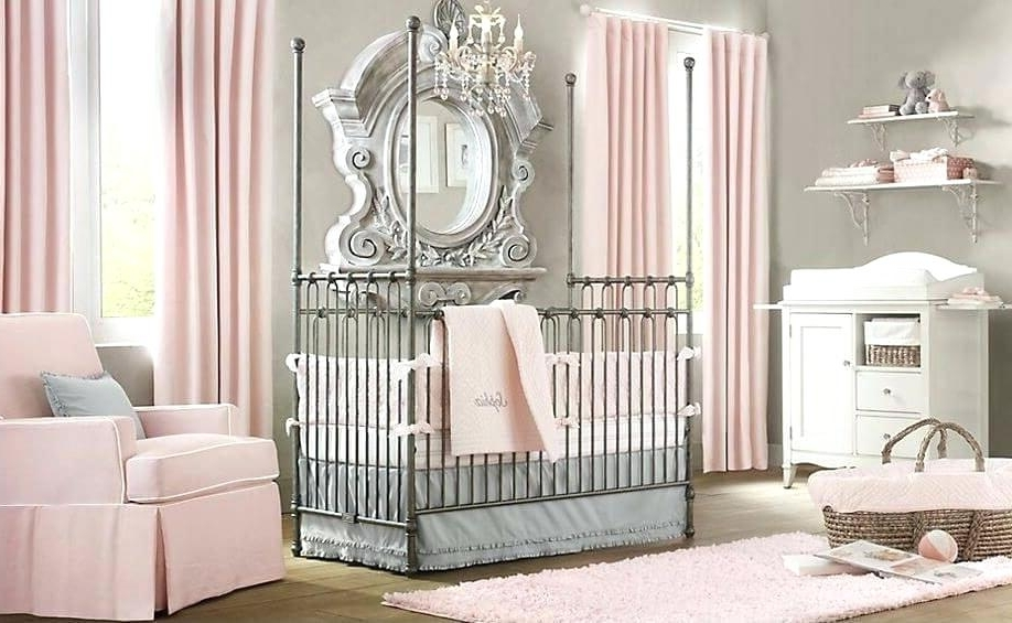 Well Known Crystal Chandeliers For Baby Girl Room Inside Decoration: Blue Baby Girl Rooms Nursery Ideas Crystal Chandelier (View 10 of 10)