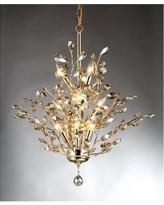 Well Known Crystal Gold Chandeliers Intended For Crystal Gold Chandelier Lights White Modern Chandelier Lighting (View 10 of 10)