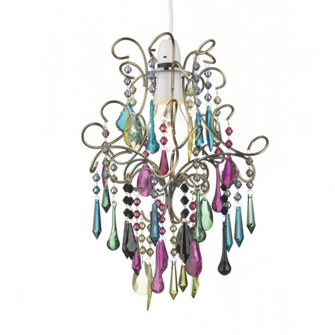 Well Known Easy Fit Light Shade Multi Coloured Chandelier To Buy From A Large For Coloured Chandeliers (View 10 of 10)