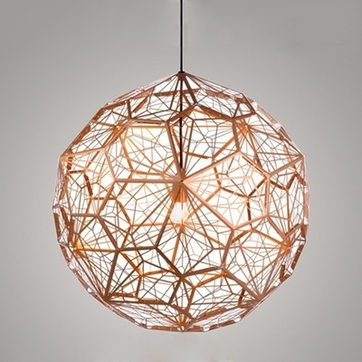 Well Known Etched Pendant Light Copper (View 2 of 10)