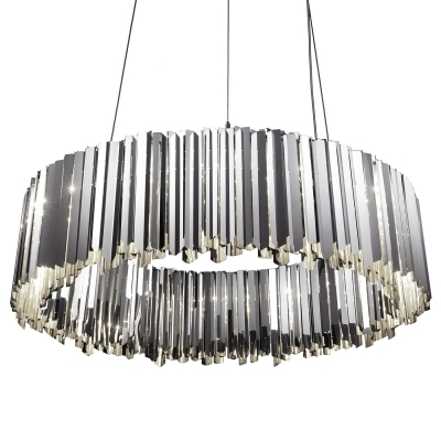 Well Known Facet Large Modern Silver Chandelier With Regard To Modern Silver Chandelier (View 10 of 10)