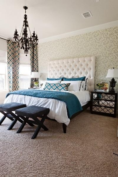 Featured Photo of Black Chandelier Bedroom