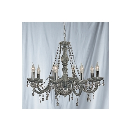 Well Known Grey Chandeliers Pertaining To Searchlight 8698 8Gy (View 10 of 10)