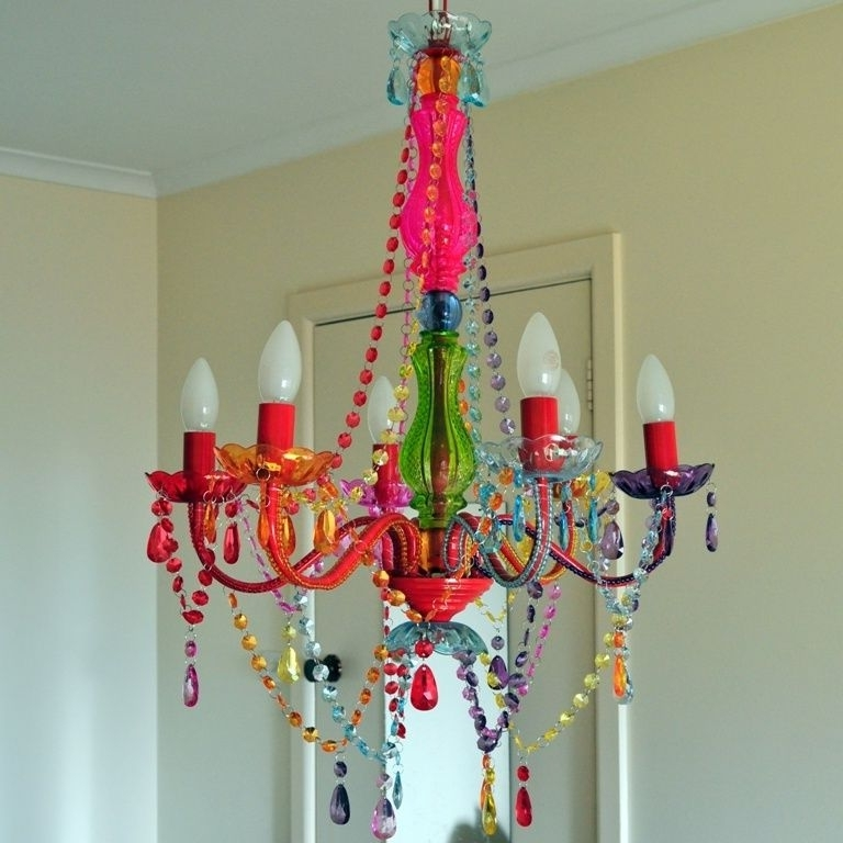 Well Known Gypsy Chandeliers Within Large Colored Crystal Chandelier Light 6 Arm Gypsy Boho Crystals (View 8 of 10)
