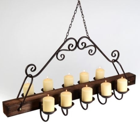 Well Known Hanging Candelabra Chandeliers Regarding Rustic Hanging Candle Chandelier (View 5 of 10)